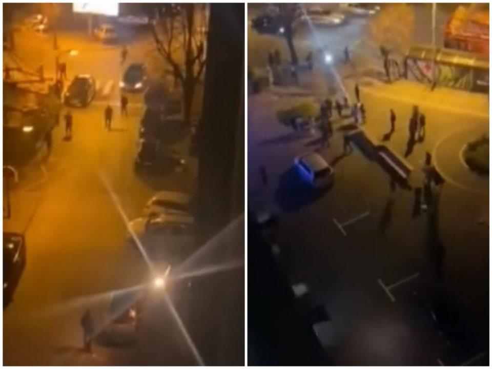 (ВИДЕО) Ужасна снимка од тепачката во Дебар Маало: Момче лежи на земја и добива клоца во глава