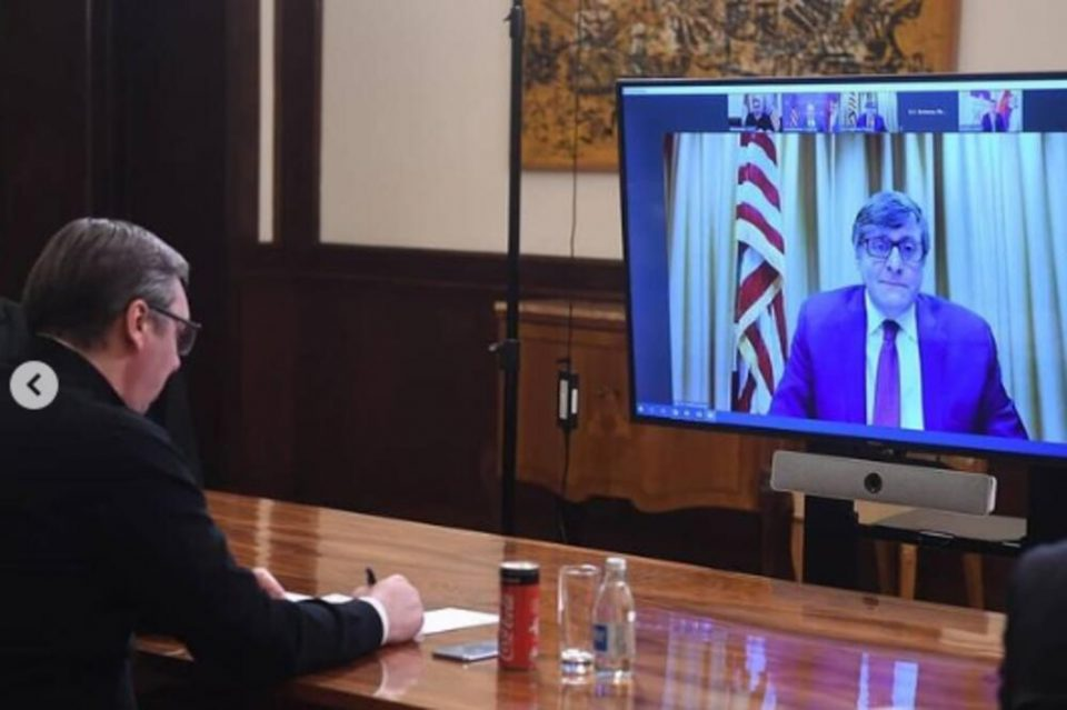Палмер разговараше со Вучиќ: Стабилноста на Западен Балкан е еден од приоритетите на САД