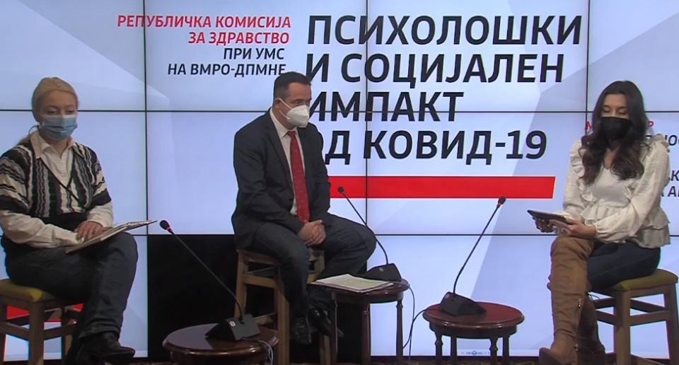Психолошкиот и социјалниот импакт од Ковид-19 – тема на панел дискусијата на Републичката комисија за здравство на УМС на ВМРО-ДПМНЕ