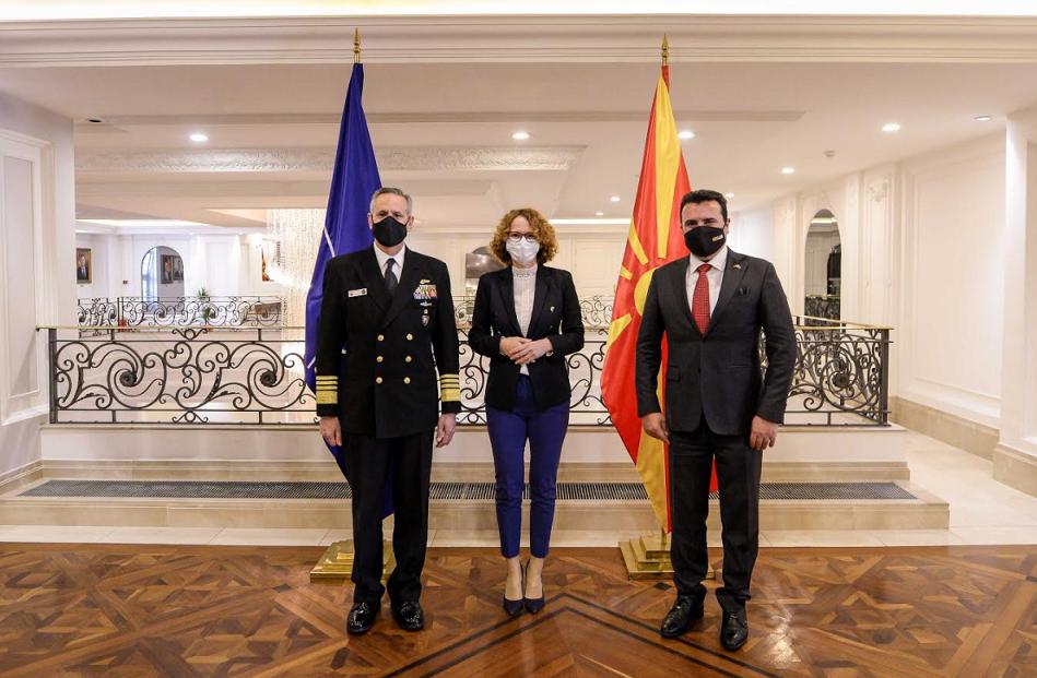 Заев го информираше адмиралот Бурк дека Владата инвестира во Армијата и во време на пандемија