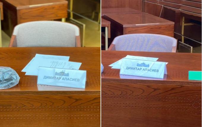 Апасиев манипулира – не присуствува на седници, ниту работи во некоја од комисиите во Собранието