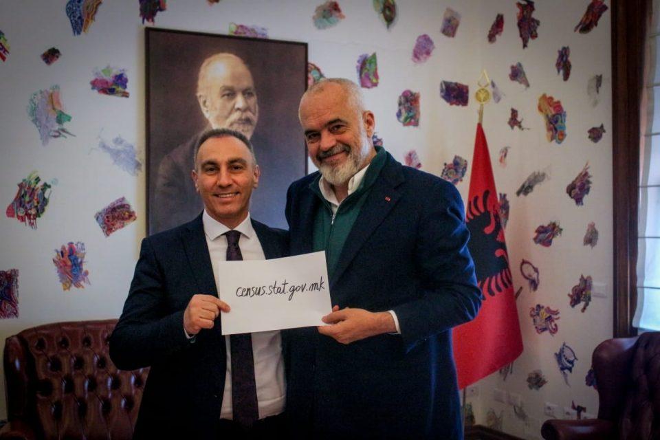 И Рама ги повика македонските државјани од дијаспората да се самопопишат