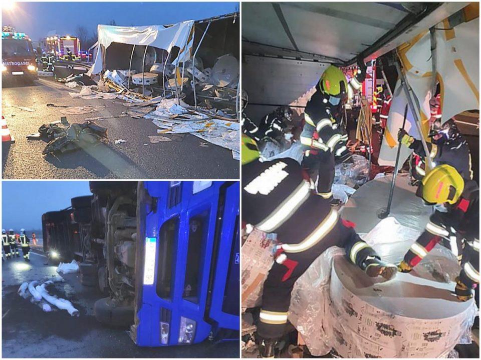 Страшна несреќа во Хрватска: Се превртел камион полн со мигранти