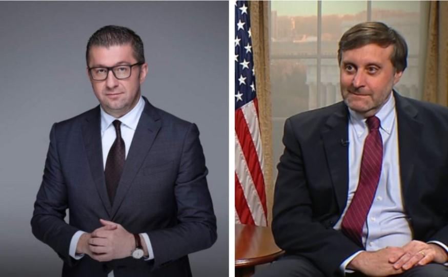 Мицкоски открива: Денес разговарав со висок претставник на САД – еве ги деталите од разговорот!