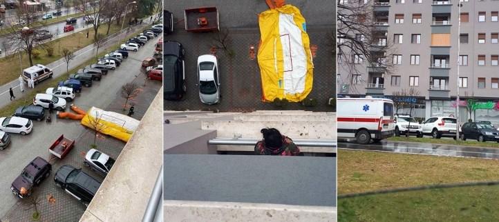 Нови детали за драмата во Карпош: Полицајци влегле со јажиња на терасата да спречат самоубиство