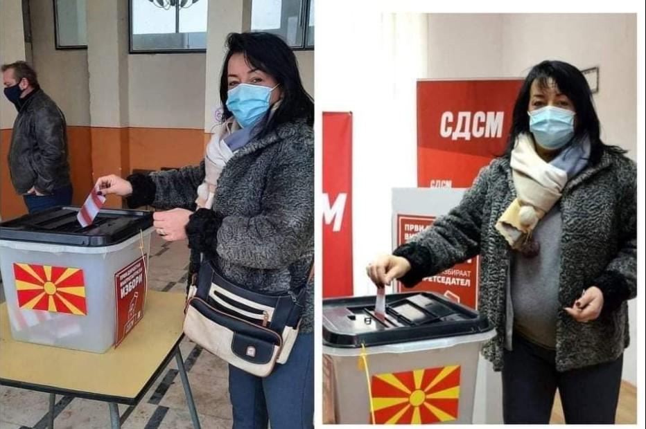 (ФОТО) ИСТАТА ЖЕНА ГЛАСА НА ДВЕ ИЗБИРАЧКИ МЕСТА: СДСМ ги мести своите, камоли државните избори…