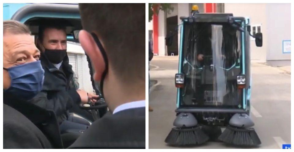 (ВИДЕО) Нов гаф на Заев: Возеше чистач на Анѓушев, а заборави да ја пушти метлата