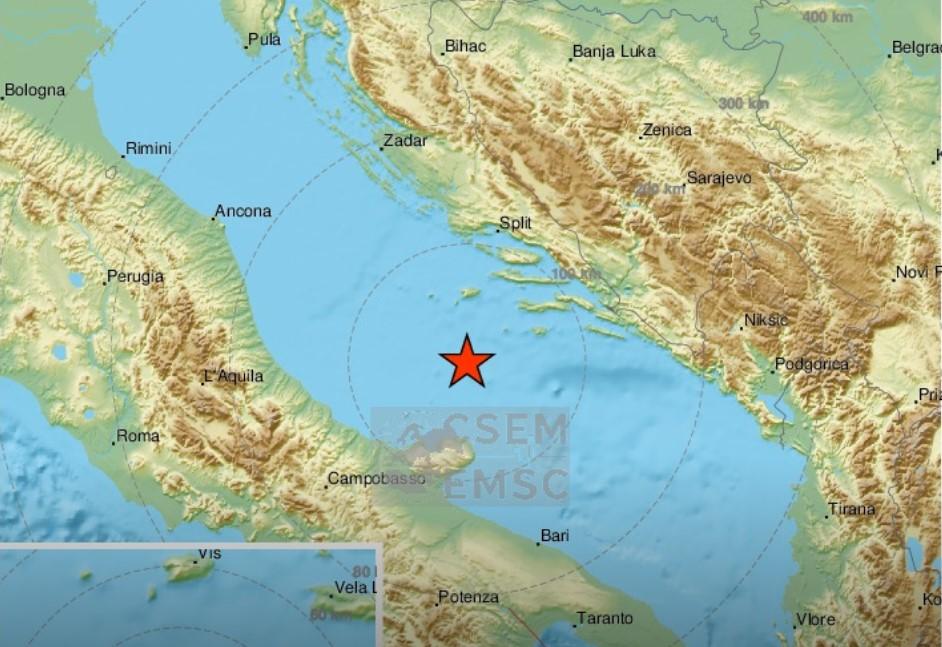 Уште еден земјотрес во Јадранското море