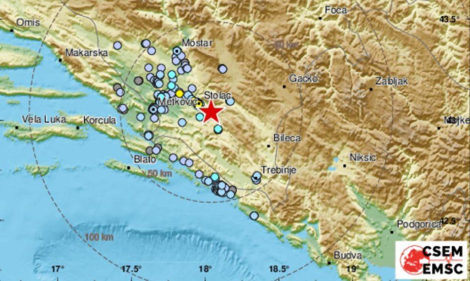 Земјотрес ја погоди Босна и Херцеговина