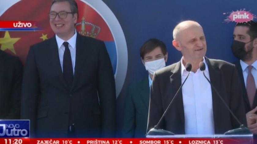 (УРНЕБЕСНО ВИДЕО) Градоначалник го згреши името на кинескиот инвеститор, Вучиќ прсна во смеа