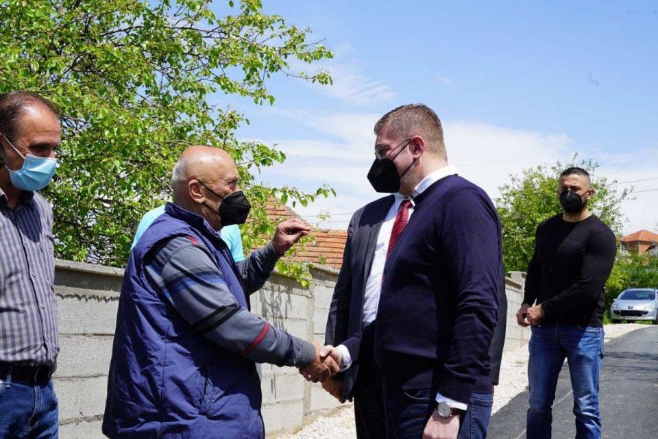 Христијан Мицкоски од Петровец: Евидентна е разликата помеѓу градоначалниците на ВМРО-ДПМНЕ и СДСМ