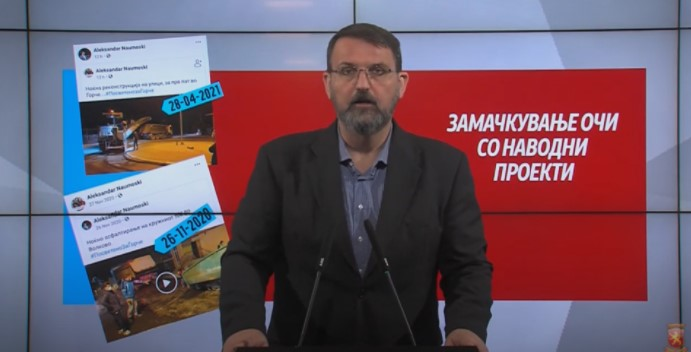 Стоилковски: Градоначалникот на Ѓорче Петров Наумоски асфалтира иста улица два пати во шест месеци