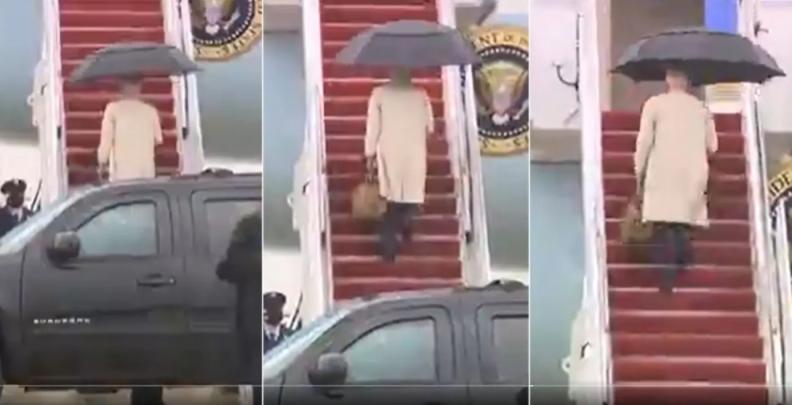 (ВИДЕО) Бајден повторно се сопна на скалите на претседателскиот авион