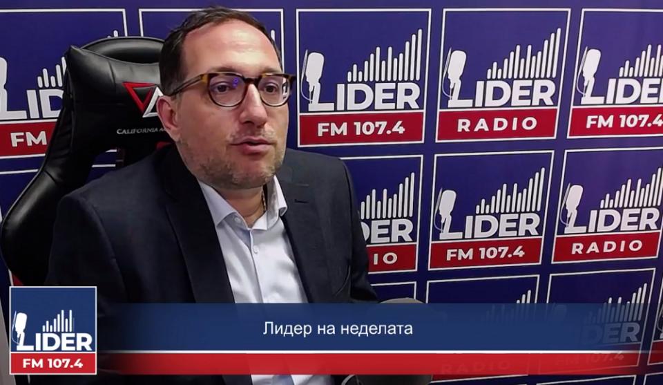 """(ВИДЕО) Бојан Кордалов гостин во """"Лидер на неделата"""" на Радио Лидер"""