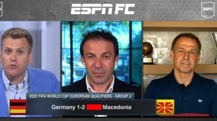 (ВИДЕО) Дел Пјеро и Клинсман откриваат зошто Македонија ја победи Германија