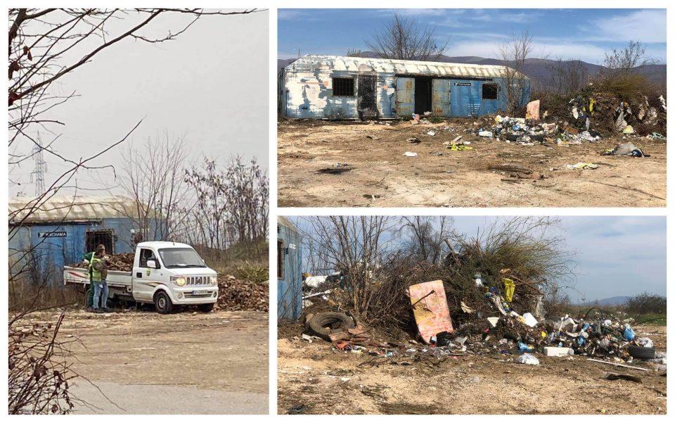 (ФОТО) ФАТЕНИ НА ДЕЛО: Вработени во општина Бутел фрлаат ѓубре и прават огромни депонии