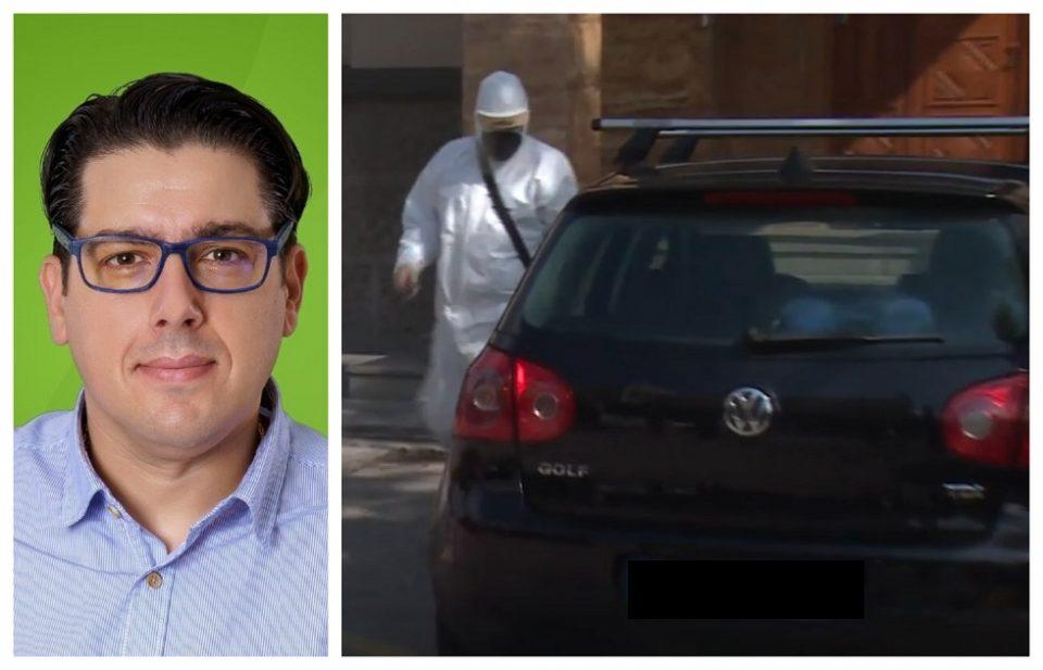 (ФОТО) Еве го вториот пратеник болен од Ковид кој со сопствено возило влезе во Собранието