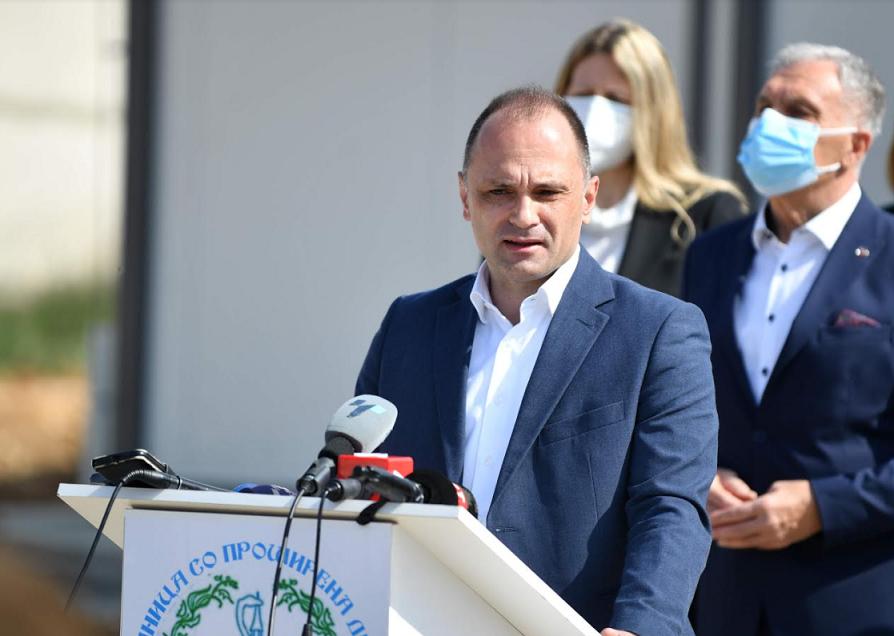 Филипче: Со вкупно 600 легла, модуларната болница во Прилеп е една од вкупно 19 во државата