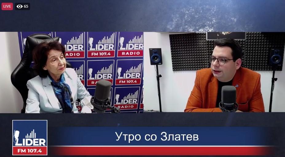 (ВО ЖИВО) Гордана Силјановска Давкова гостин во Радио Лидер