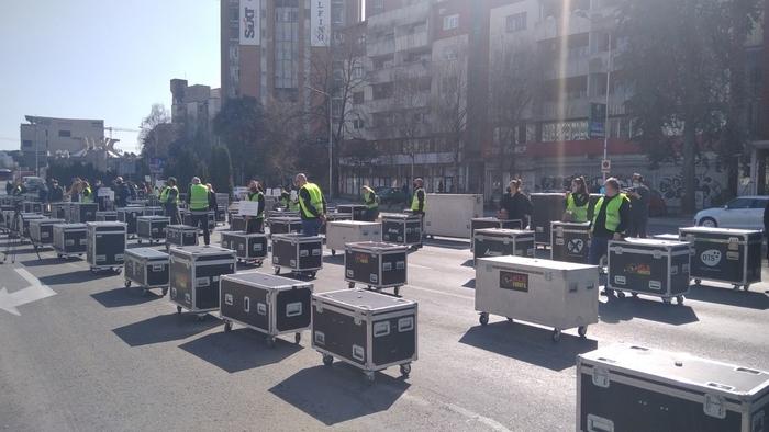Владата не ги рецка: Трет ден протести на Ивент индустријата