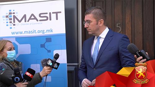 Мицкоски во МАСИТ: На ИКТ индустријата ѝ недостасува поддршка од владата
