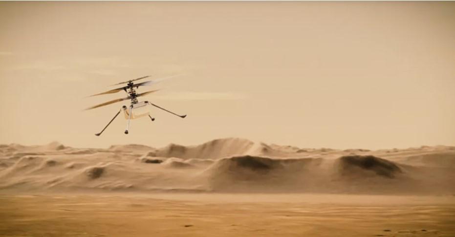 Хеликоптерот на НАСА ја испрати првата фотографија во боја од Марс