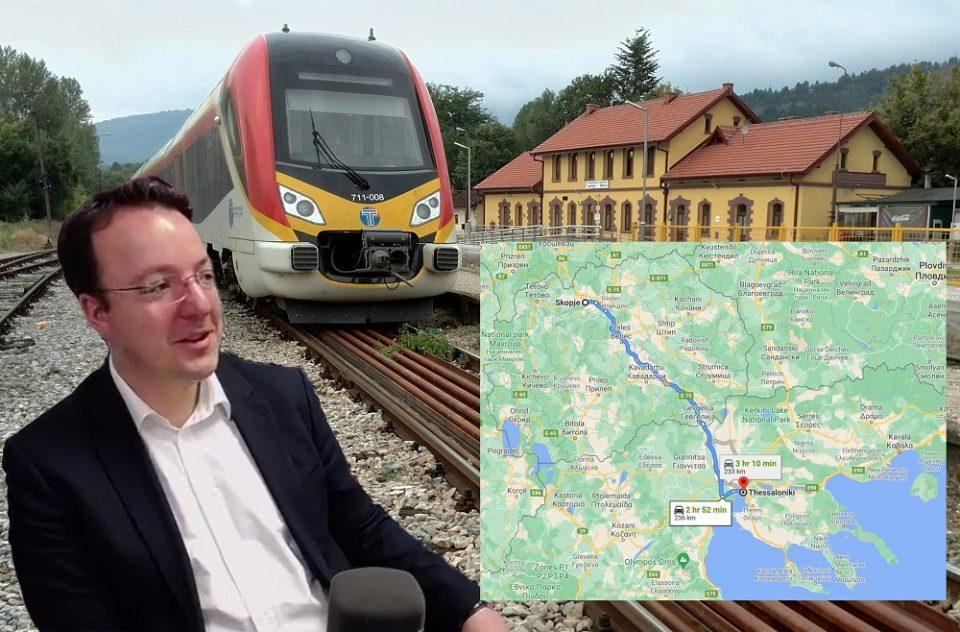 (ВИДЕО) Николоски: Мојот сон е од Скопје до Солун да се патува со воз за еден и пол час