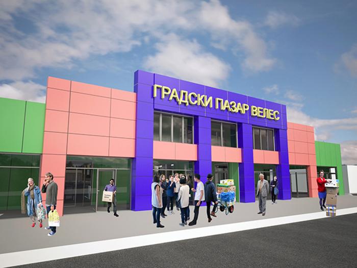 Премиерот Заев и пет министри на стартот на изградбата на нов градски пазар во Велес