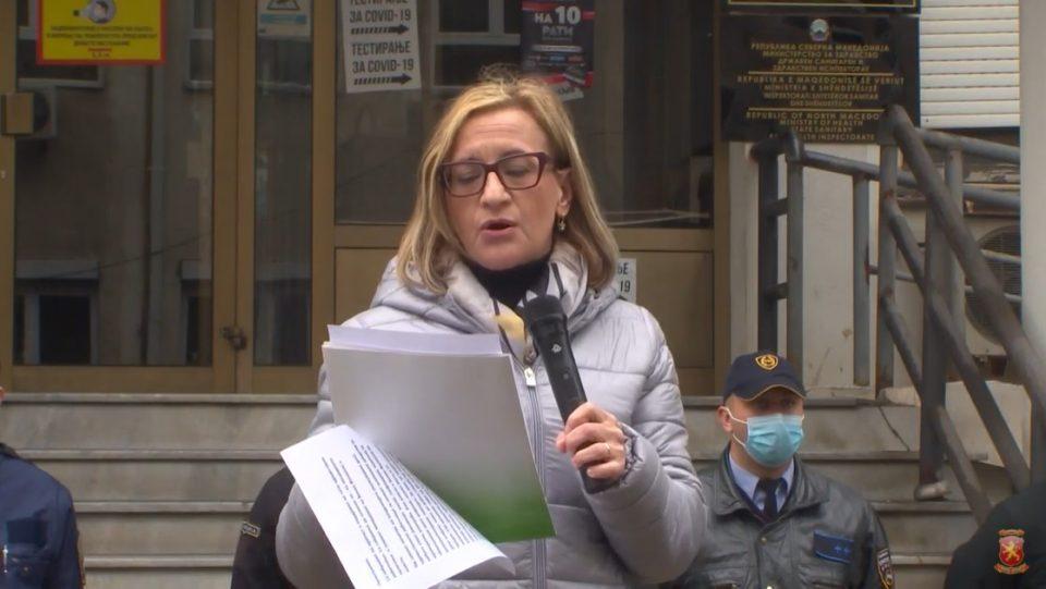 Поцкова: Поддршка за здравствените работници, НЕ за лошите политики на Филипче
