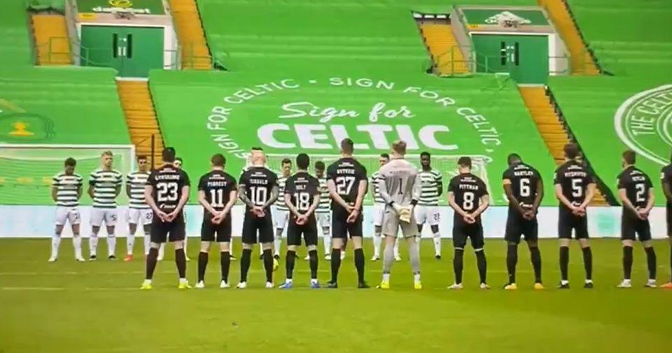 (ВИДЕО) Скандал на фудбалски натпревар во Шкотска: Навивачите на Селтик не оддадоа почит за смртта на принцот Филип
