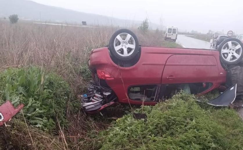 (ФОТО) Тешка сообраќајка на патот Ново Село- Сушица