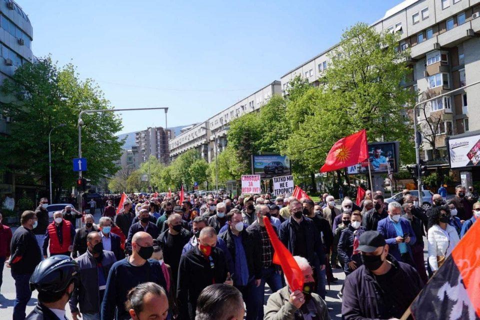 """""""Татко ми не е терорист"""": Моќна порака на денешниот протест за слобода на уставобранителите"""
