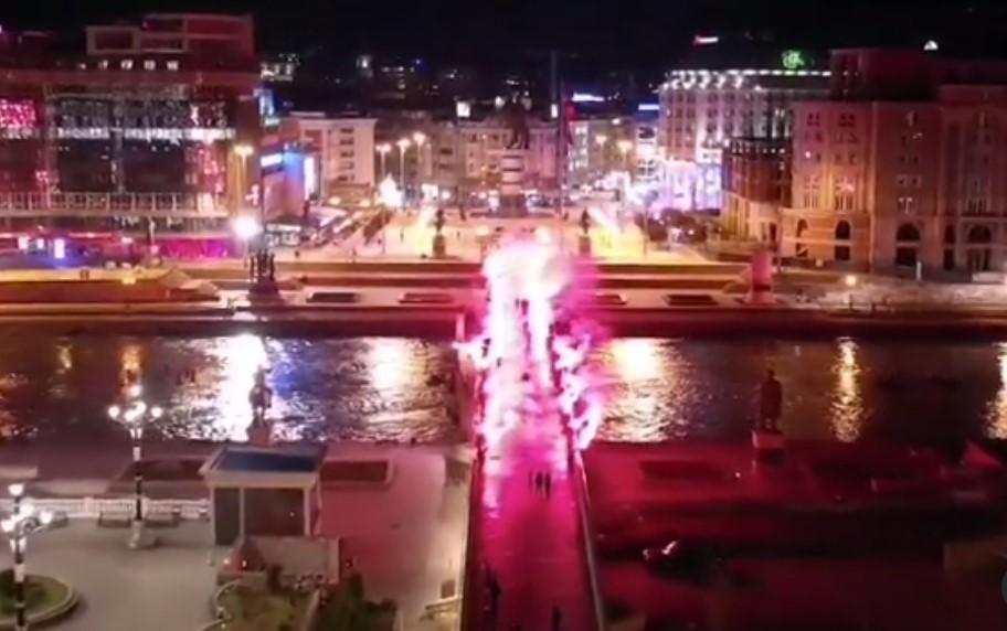 (ВИДЕО) УМС на ВМРО-ДПМНЕ со огромно пиро-шоу прослави 30 години постоење