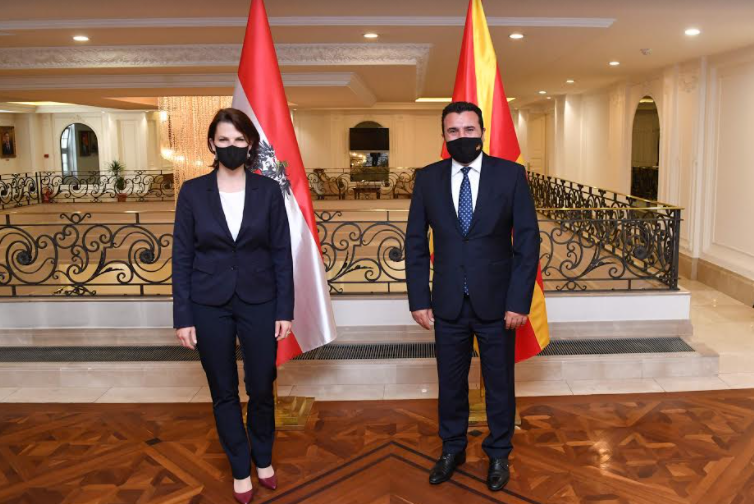 Заев – Едштадлер: Австрија целосно го поддржува пристапниот процес на нашата држава кон ЕУ