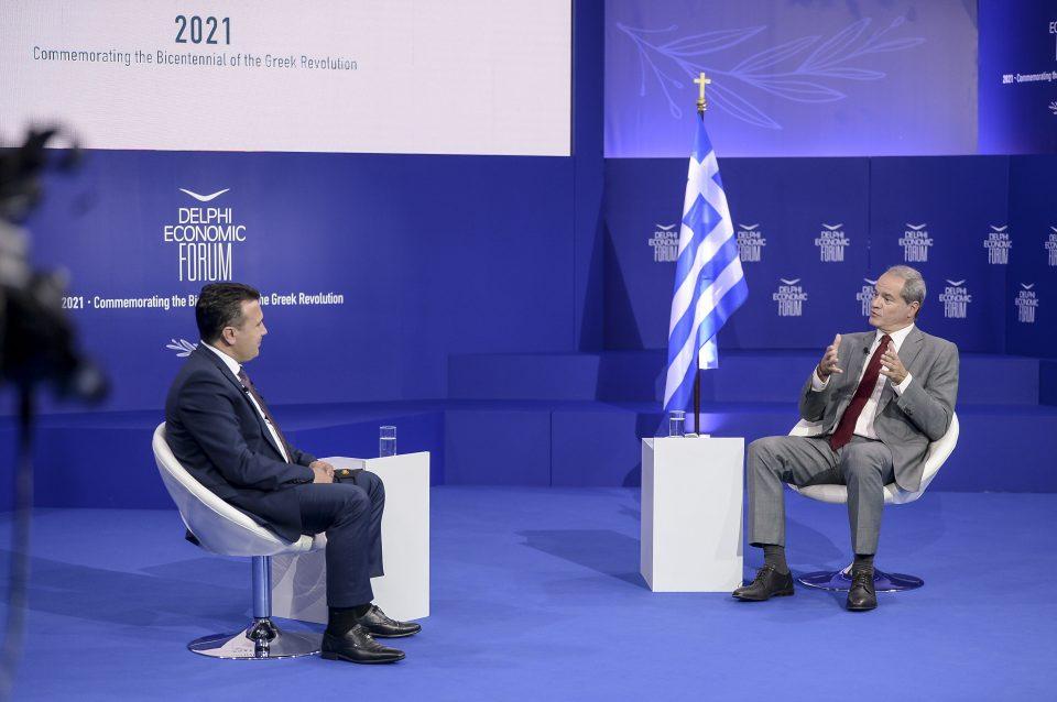 Заев од Форумот Делфи во Атина: Потребен ни е економски просперитетен Балкан на 21 век