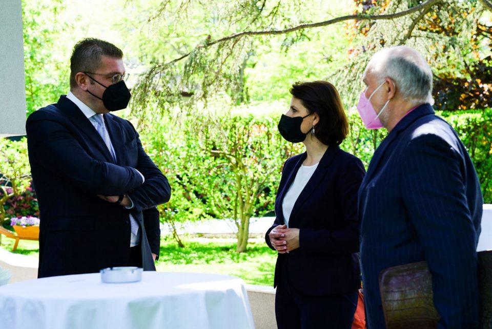 Мицкоски се сретна со Каролине Едштадлер, министер за Европа и Устав на Австрија
