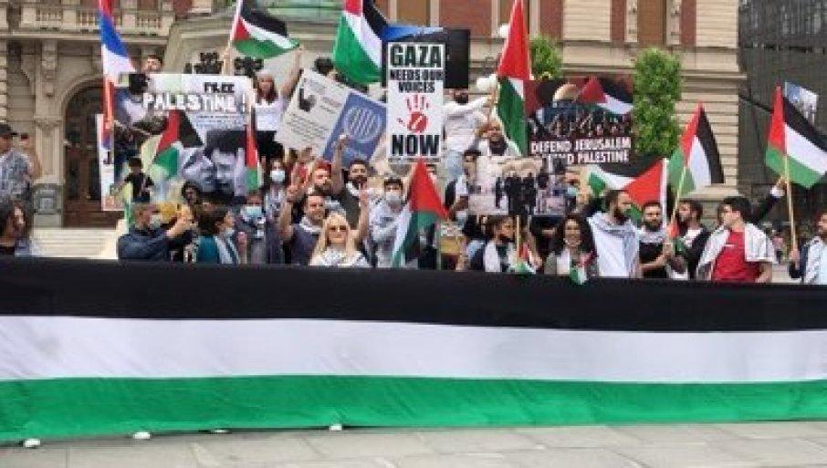 (ВИДЕО) Палестинци протестираа во центарот на Белград
