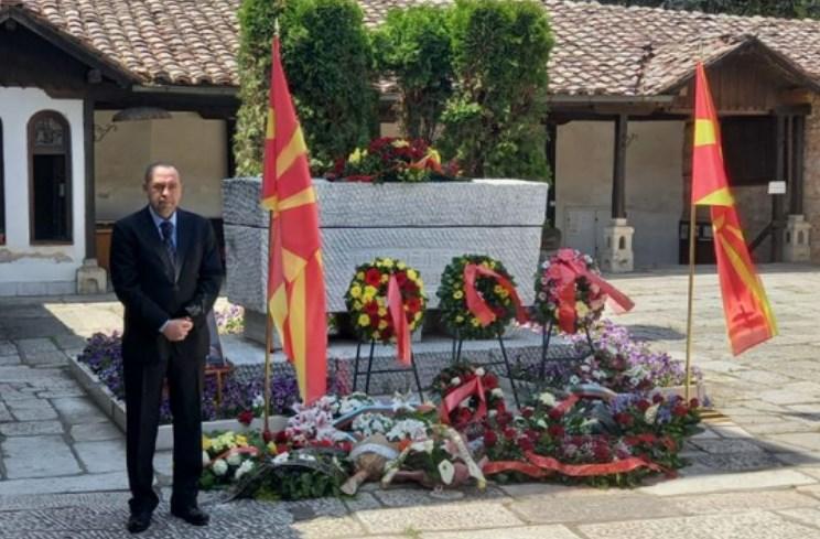 Бугарскиот амбасадор се поклони на гробот на Гоце Делчев