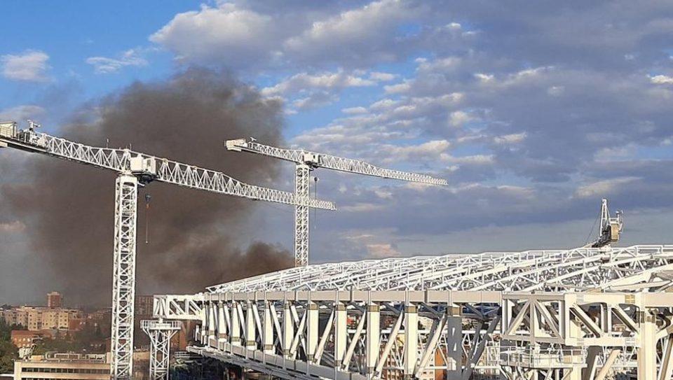 (ВИДЕО) Хаос во Мадрид, се запали стадионот Сантијаго Бернабеу
