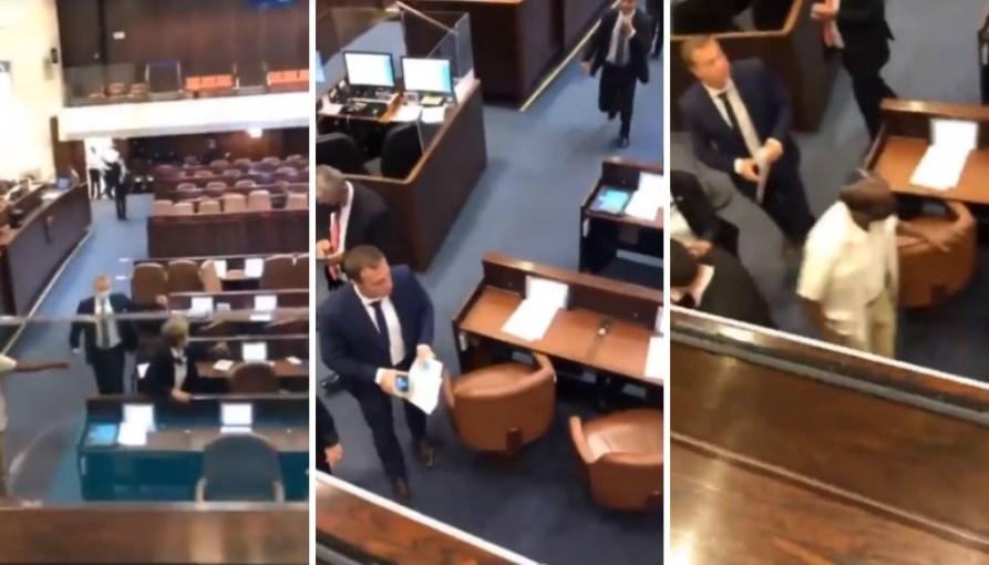 ЗАСТРАШУВАЧКА СНИМКА: Израелскиот Парламент се тресеше од палестинските бомби