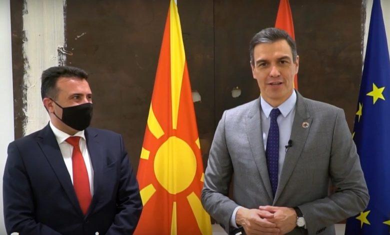 Педро Санчез до македонските граѓани: Можете да сметате на нашата поддршка за влез во ЕУ