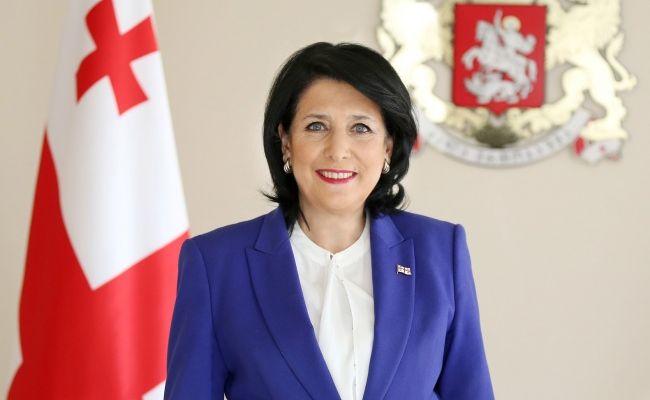 Претседателката на Грузија, Саломе Зурабишвили во официјална посета на Македонија
