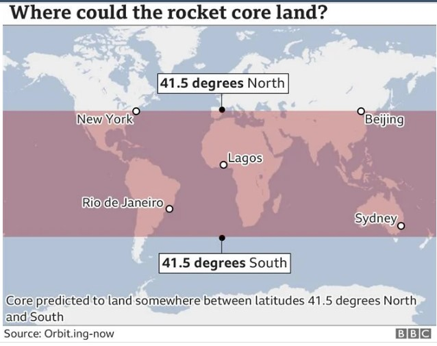 Делови од кинеската ракета може да паднат во Италија вечерва и утре