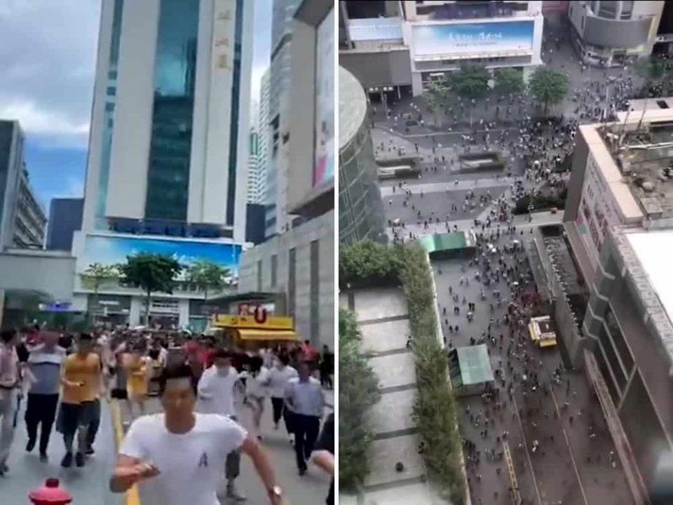 (ВИДЕО) Висококатницата се ниша, луѓето во паника бегаат