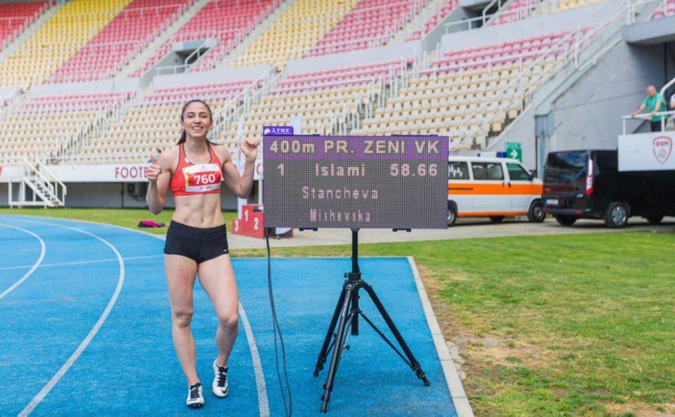 Дрита Ислами го собори државниот рекорд на 400 метри со пречки
