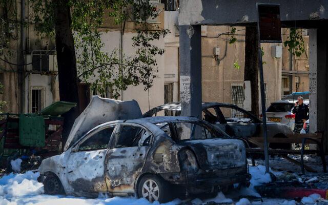 Страшни снимки од нападите врз Тел Авив