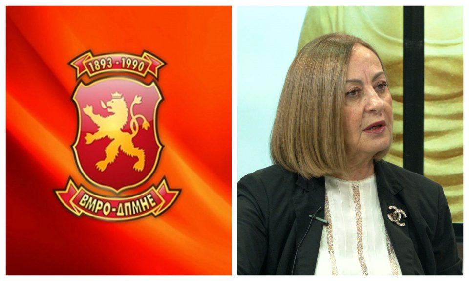 ВМРО-ДПМНЕ со реакција: Кацарска е наградена поради тоа што ги стави во затвор уставобранителите