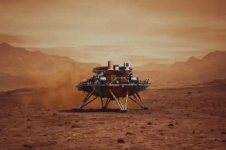 (ВИДЕО) Кинескиот ровер успешно слета на Марс