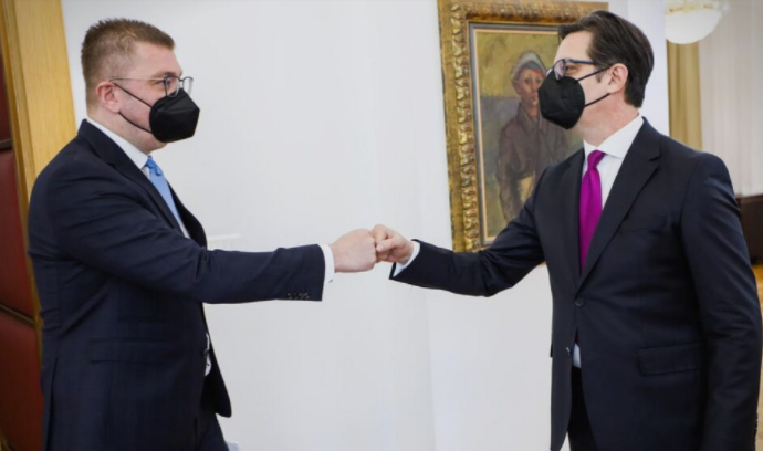 """Кабинетот на Пендаровски до Мицкоски: Ставовите на претседателот за """"27 април"""" се кристално јасни"""