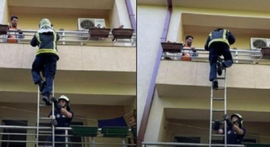 (ФОТО) Акција на скопските пожарникари – спасена жена со скршеници